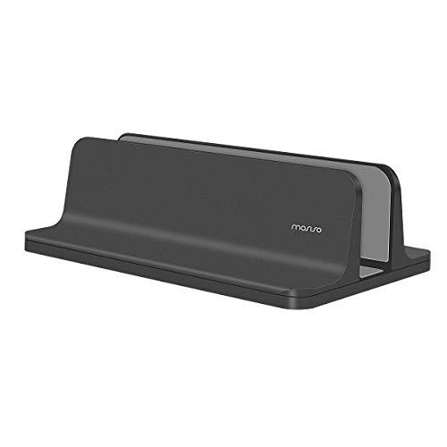 MOSISO Supporto Verticale per Laptop, Supporto da Tavolo in Lega di Alluminio Salvaspazio Compatibile on iPad PRO/MacBook Air/MacBook PRO/Surface PRO e Altri Laptop Notebook,Nero