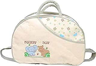 CHINMAY KIDS® Baby Mother Bag with Holder Diaper Changing Multi Compartment for Baby Care and Maternity Handbag (Cream)