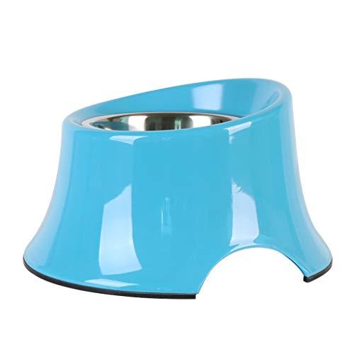 JINAXIN Dog Bowl, Dog Bowl, Large Slanting Bowl, Suitable For Pets (color : Blue, Size : M)
