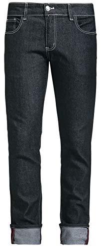 Banned Alternative Rockabilly Slim Männer Jeans schwarz W33L34