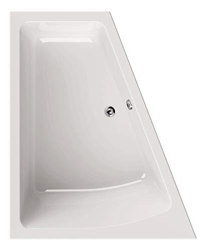 Calmwaters® Raumsparende Eckbadewanne 170x140 cm, Acrylwanne Modern Plus, Duo-Badewanne für 2 Personen, platzsparende Badewanne, rechte Ausführung, Maße 170 x 140 cm, Eck-Badewanne Weiß, 02SL3333