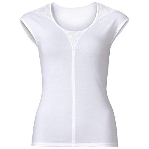 Odlo Natural X-Light T-Shirt Manches Courtes de Course à Pied Femme Snow White Mélange FR : XS (Taille Fabricant : XS)