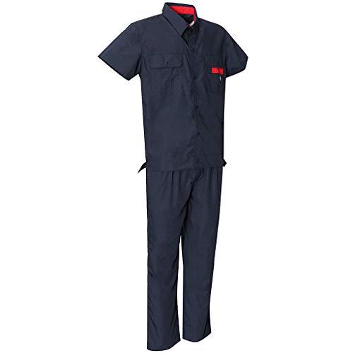 B Blesiya Unisex Arbeitsanzug Overall Berufsbekleidung aus Baumwolle - Marine, S