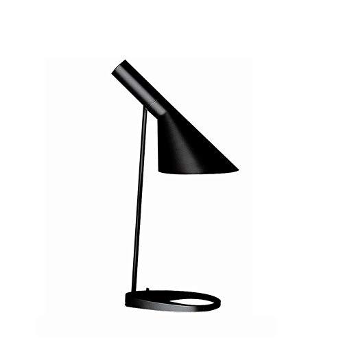 Einfache und warme Schlafzimmer AJ Tischlampe kreative Schwarze und Weiße minimalistische Bügeleisen Schreibtischleuchte