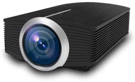 YUYANDE PROYECTOR Mini PROYECTOR, proyector de Videos al Aire Libre, proyector de Cine en casa portátil LED 1080p admitido, proyector de Video en casa Negro