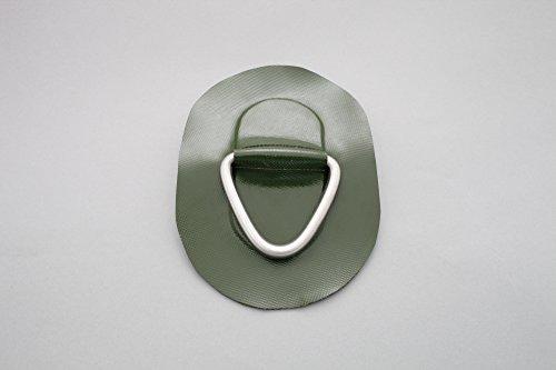 Bengar D-Ring für Schlauchboote (grün), Beschlag zum Aufkleben aus Valmex DR-01