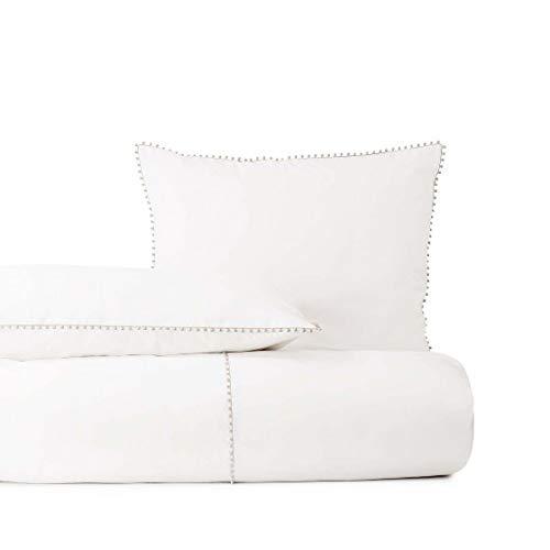 Descamps - Funda nórdica para cama de caprice platino, 200 x 200 cm