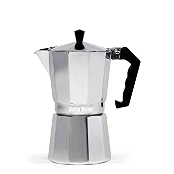 Data Deer Stovetop Espresso Maker with Great Flavored and Rich Brew Coffee Maker Moka Pot for Gas Stove Camping Stove 6-Cup Make Italian Espresso Coffee,Multi-color