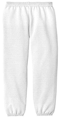 Joe's USA - Youth Soft and Cozy white sweatpants kids M(10-12)