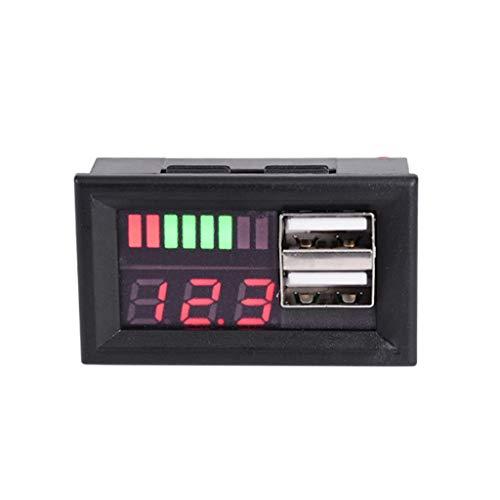 siwetg Digitales Batterie-Messgerät für Motorrad, 12 V, mit USB-Ausgang 5 V