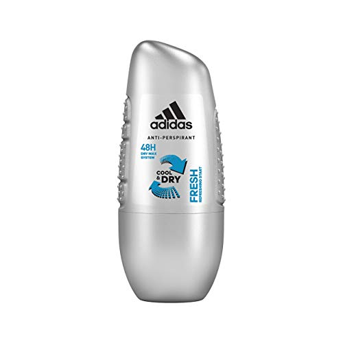 Adidas Fresh Anti-perspirant Roll-on, Desorotante de Roll-on para hombre - 50ml, Pack de 6