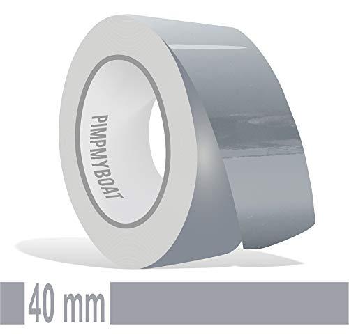 Siviwonder Zierstreifen schiefergrau grau RAL 7000 Glanz in 40 mm Breite und 10 m Länge Folie Aufkleber für Auto Boot Jetski Modellbau Klebeband Dekorstreifen Grey fehgrau