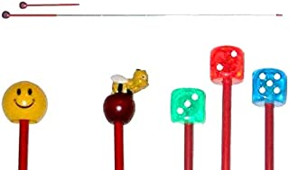 Wooden Pointer AA-780AP36-36 Made in USA w//Round Apple /& red Rubber end Cap Perfect for Smart Board Screen.