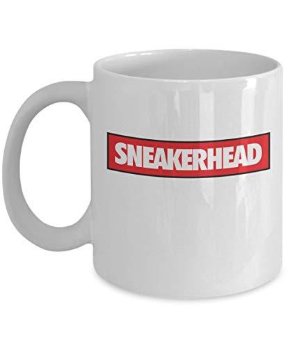 Custom Mugs – weiße Keramik-Turnschuh-Kopf 325 ml Sneakerhead Supreme Sneakerhead Merchandise Zubehör Nike Yeezy Shirt Pin Poster Decor Aufkleber