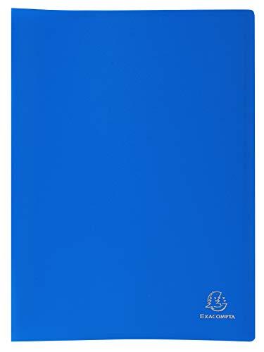 Exacompta 8557E - Carpeta de 50 fundas PVC, A4, color azul