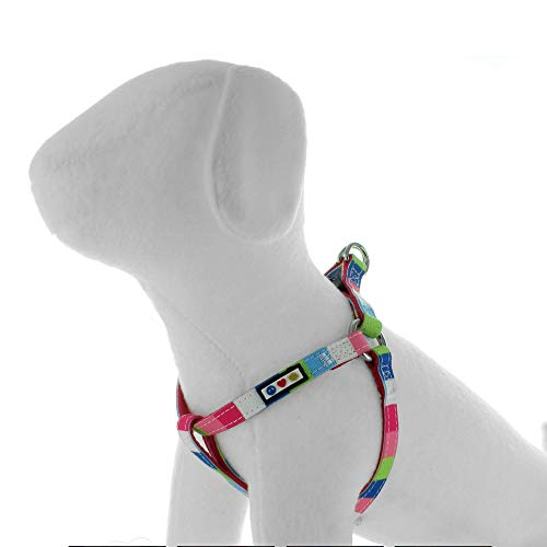 Pawtitas Multicolor Step in Dog Harness or Vest Harness Training of Your Puppy Harness Extra Small Harness Pink/Blue/Teal/Green
