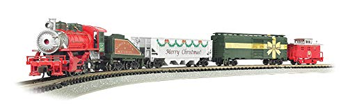 Bachmann Trains - Merry Christmas Express Ready to Run Electric Train Set - N Scale