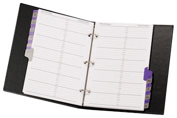 CONCORD 82010 CD6 Telefon-Ringbuch (mit A-Z Register und 20 Seiten à DIN A5) schwarz