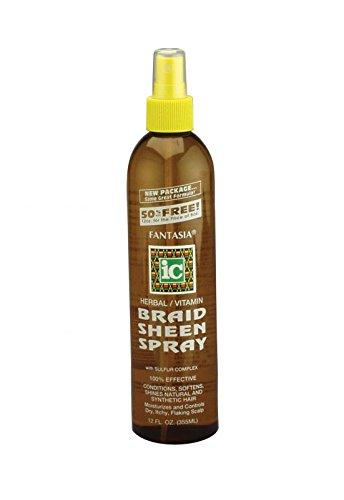 Fantasia Ic Herbal Braid Sheen Spray With Sulfur Complex 12 Oz