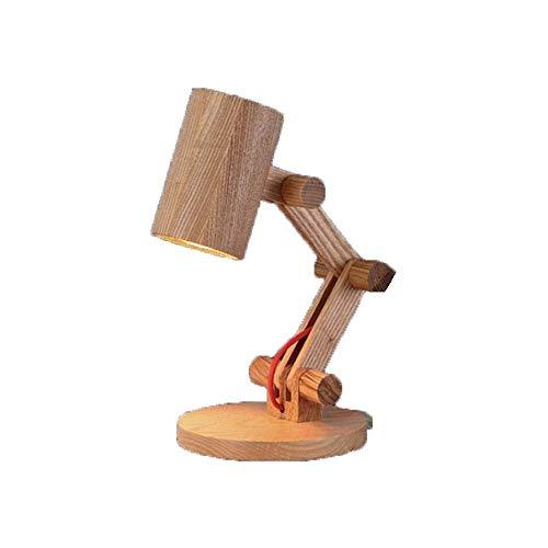 Lámpara de escritorio Ti table clear night short, habitation, funcional, estudio, lámpara de escritorio para ni?os leyendo, lámpara de mesa de madera swank vintage plegable, lámpara de escritorio de b