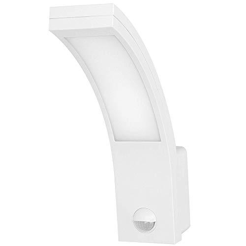 Orno Piryt Lámpara De Pared Con Detector De Movimiento y Sensor Crepuscular 750lm 4000K Blanco IP54 (Blanco)