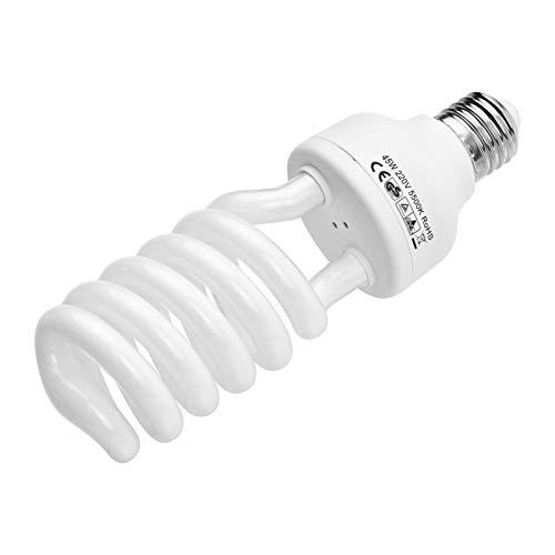 Lámpara fluorescente en espiral 45 W 5500 K, luz diurna E27, bajo consumo para fotografía de estudio y iluminación de vídeo, 220 V