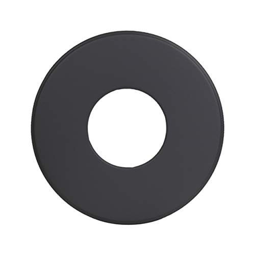 LANZZAS Rauchrohr Ofenrohr Kaminrohr Rosette Wandrosette Ø 120 mm Rand 90 mm schwarz