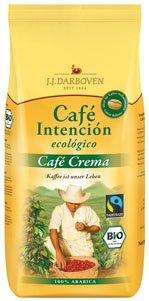 Fairtrade J.J.Darboven Café Intención ecológico Café Crema, Bio-Kaffee, Ganze Bohne - 1kg - 2x