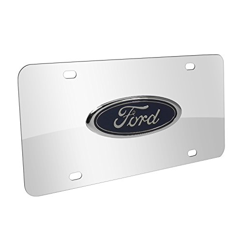 Au-Tomotive Gold, INC. Ford 3D Logo on Chrome Stainless Steel License Plate