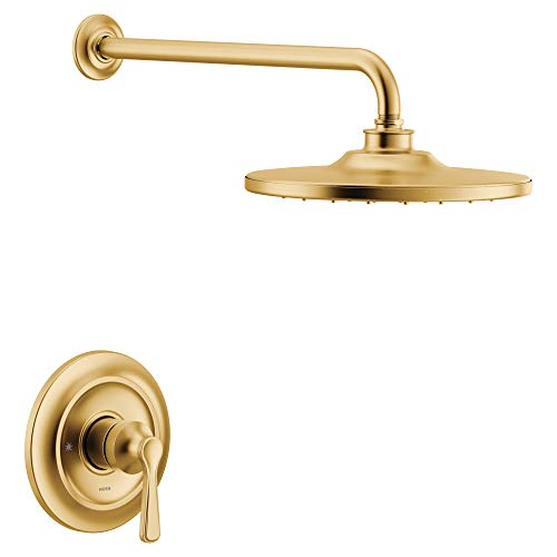 Moen UTS344302EPBG Colinet M-CORE 3-Series 1-Handle Eco-Performance Shower Trim Kit, Valve Required, Brushed Gold