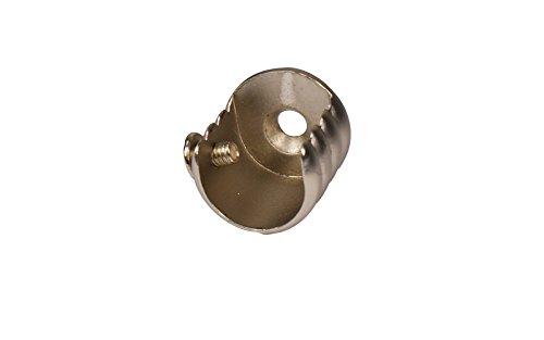iso-design Wandlager aus Metall für Gardinenstangen mit 16 mm Durchmesser Stahl Silber