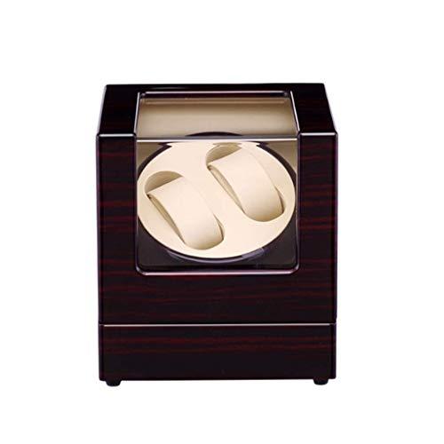 LLSS Caja enrolladora de Reloj Doble automática, Caja de presentación de Almacenamiento de Relojes con Motores silenciosos para Relojes de Hombre y Mujer