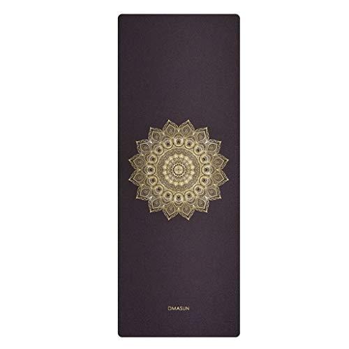 XINGDONG Esterilla de yoga de goma natural antideslizante para el hogar, toalla gruesa antideslizante, plegable, para hombre, para fitness, yoga, fácil de almacenar (color: negro, tamaño: 1,5 mm)