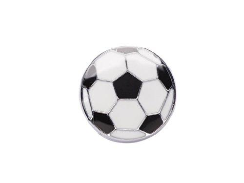 La Loria 2 Charms -Football- Sneakerbugs Fußball in schwarz-weiß Schuhschmuck für Schnürsenkel