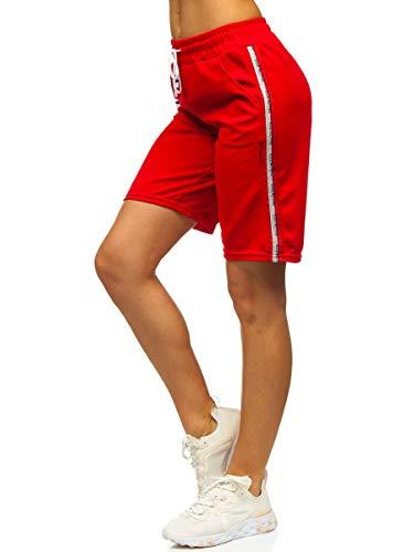 BOLF La Pantalon Court pour Femme Shorts Slim Fit J.Style YW01022 Rouge XL [F6F]