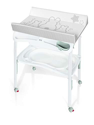 Brevi 596-667 Pratico Table à Langer Pliant Lapinou Perle