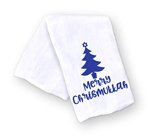 Merry Chrismukkah Kitchen Towel Funny Hanukkah and Christmas Gift for the Holidays - Hostess Gift