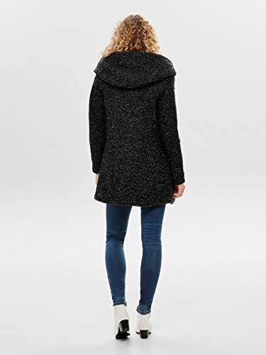 ONLY Onlsedona Boucle Wool Coat Otw Noos Abrigo, Negro (Black Detail:Melange), S para Mujer