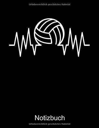 VOLLEYBALL Notizbuch: Notizbuch A4 liniert 100 Seiten, Notizheft / Tagebuch / Reise Journal, perfektes Geschenk für Volleyballspieler