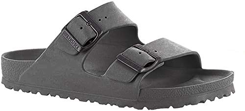 Birkenstock Unisex Arizona EVA Sandal, Metallic Anthracite, 45 Regular/12-12.5 Men