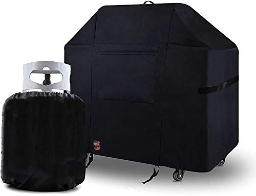 Yukon Glory 7569 Premium New and Improved Grill Cover for Weber Spirit 200 and 300 Series Grills Includes Propane Tank Cover