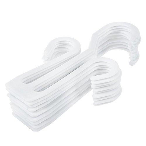NEYOANN Zapatillas de plástico de cuero zapatos de secado estante colgador 10 piezas blanco
