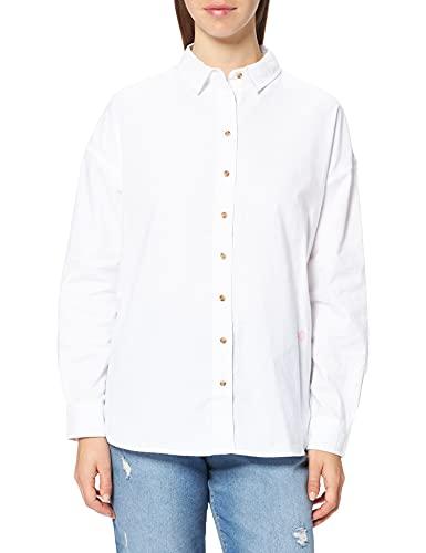 Springfield Camisa Oxford Oversize, Blanco, 42 para Mujer