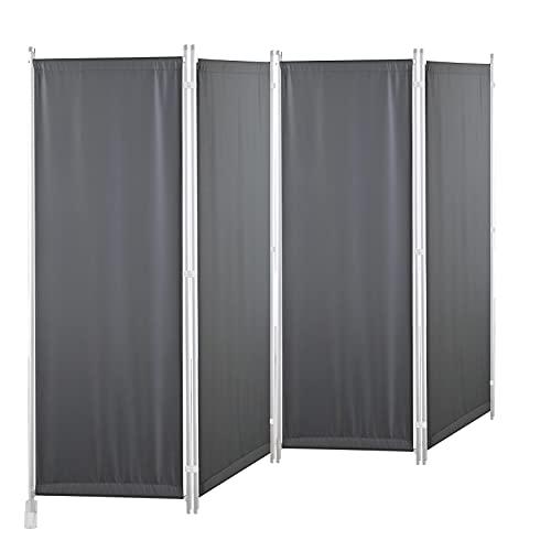 GOJOOASIS Biombo 170 x 220 cm Separador de 4 Paneles, Decoración Elegante, Separador de Ambientes Plegable, Divisor de...