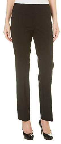 Zac & Rachel Womens Pull On Solid Millennium Pants 12 Black