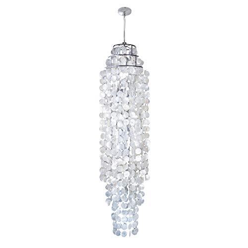 Riesige Hängelampe GIANT SHELL RING XL Perlmutt 150cm Hängeleuchte Lampe Pendelleuchte Muscheln