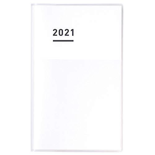 コクヨ ジブン手帳 DIARY 手帳 2021年 A5 スリム マンスリー&ウィークリー ホワイト ニ-JCD1W-21 2020年 11月始まり