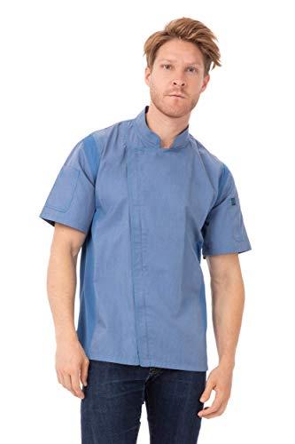 Chef Works Springfield - Chamarra de Chef para Hombre, Azul (Sky Blue), Large