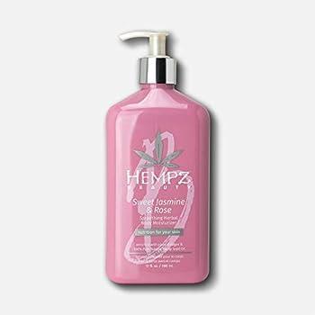 Hempz Sweet Jasmine & Rose Herbal Body Moisturizer for Women 17 Fl oz - Moisturizing Body Lotion with 100% Pure Hemp Seed Oil Collagen Shea Butter - Hydrating Vegan Lotion for Dry Skin