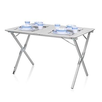 Table de camping Campart Travel TA-0802 ? Plateau à enrouler 110 x 70 cm